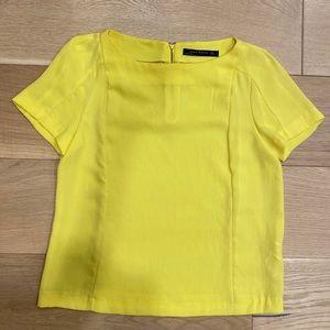 Yellow Zara Top with Zipper